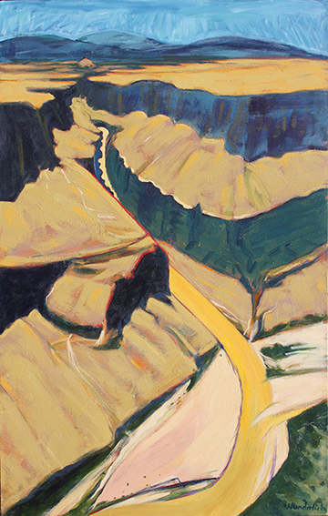 Rio Grande _ Mouth of Santa Elena Canyon.  SOLD, 48 x30  Bonnie Wunderlich