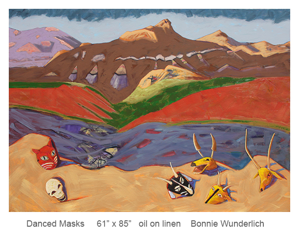 Danced-Masks---61x85---Bonnie-Wunderlich--oil-on-linen