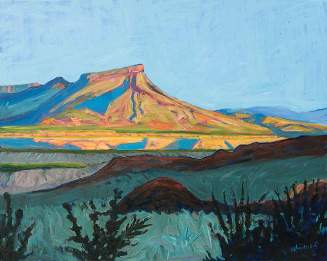 Tule Mountain, SOLD,  48x60  oil on canvas   Bonnie Wunderlich