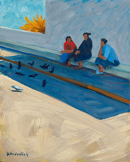 Ojinaga Women and Birds 16x20 Bonnie Wunderlich